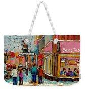 Beautys Luncheonette Montreal Weekender Tote Bag