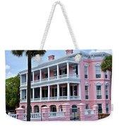 Beauutiful Pink Colonial Style Mansion Weekender Tote Bag
