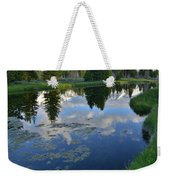 Beaver Dam At Schwabacher Landing Weekender Tote Bag