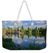 Beaver Dam Reflection In Grand Teton Np Weekender Tote Bag