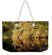 Beaver's Bend Rock Wall Reflection Weekender Tote Bag