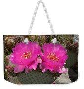 Beavertail Cactus Flowers Weekender Tote Bag