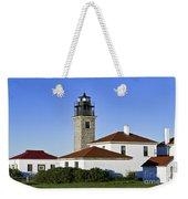 Beavertail Lighthouse Rhode Island Weekender Tote Bag