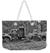 Becoming A Part Of The Landscape Black And White Weekender Tote Bag