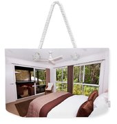 Bedroom With Brown And Cream Theme Weekender Tote Bag