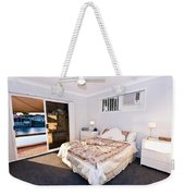 Bedroom With River View Weekender Tote Bag
