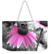 Bee And Cone Flower Weekender Tote Bag