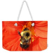 Bee And Nasturtium Weekender Tote Bag