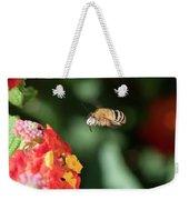 Bee, Bumblebee, Flying To A Flower, In Marseille, France Weekender Tote Bag
