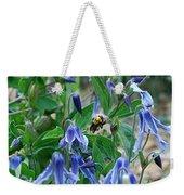 Bee Buzzing Through Blue Beauty Weekender Tote Bag