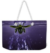 Bee Drilling Wood Weekender Tote Bag