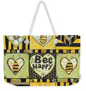 Bee Happy Weekender Tote Bag by Jen Norton