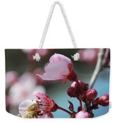 Bee In A Blossom Weekender Tote Bag
