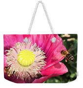 Bee In A Flower Weekender Tote Bag