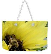 Bee In Sunflower Weekender Tote Bag