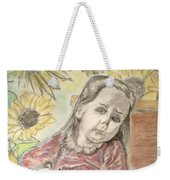 Bee In The Flowers Weekender Tote Bag