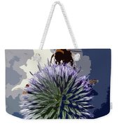 Bee On An Allium Weekender Tote Bag