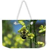 Bee On Broccoli Flower Weekender Tote Bag