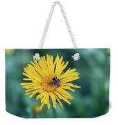 Bee On Curlyhead Goldenweed Weekender Tote Bag