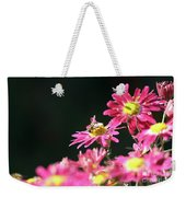 Bee On Flower Spring Scene Weekender Tote Bag