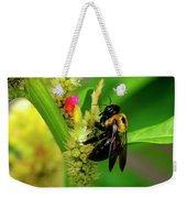 Bee On Flower Weekender Tote Bag