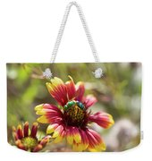 Bee On Gaillardia Weekender Tote Bag