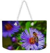 Bee On Lavender Flower Weekender Tote Bag