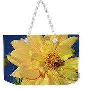 Bee On Pretty Dahlia By Kaye Menner Weekender Tote Bag