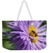 Bee On Purple Daisy Weekender Tote Bag