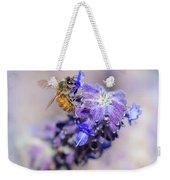 Bee On Sage Weekender Tote Bag