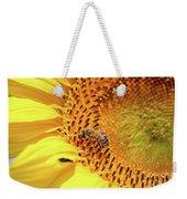 Bee On Sunflower Summer Nature Scene Weekender Tote Bag