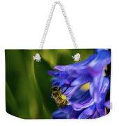 Bee On The Hyacinth Weekender Tote Bag