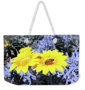Bee On The Yellow Weekender Tote Bag