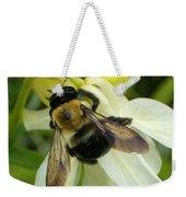 Bee On White Weekender Tote Bag