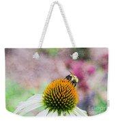 Bee On Yellow Coneflower Weekender Tote Bag