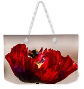 Bee Right Back With Red Flower Weekender Tote Bag