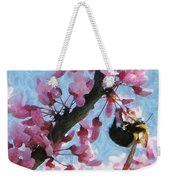 Bee To The Blossom Weekender Tote Bag