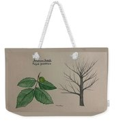 Beech Tree Id Weekender Tote Bag