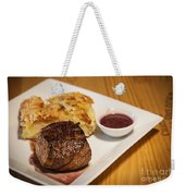Beef Steak With Potato And Cheese Bake Weekender Tote Bag