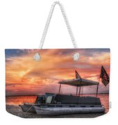 Beer Can Island Sunset Weekender Tote Bag