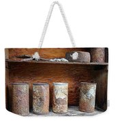 Beer Cans On Shelf Weekender Tote Bag