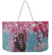 Bees In Pink Weekender Tote Bag