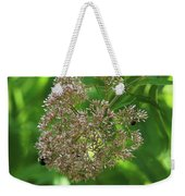 Bees On Joe-pyed Weed Weekender Tote Bag
