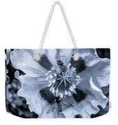 Double Bees On Poppy Bw Weekender Tote Bag