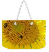 Bees Share A Sunflower Weekender Tote Bag