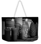 Beeswax Candles With Angels And Pinecones Weekender Tote Bag