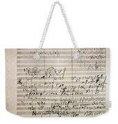 Beethoven Manuscript Weekender Tote Bag