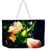 Beetle Hanging Out With Hibiscus Flowers Weekender Tote Bag