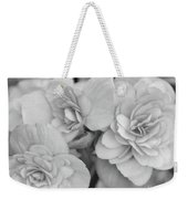 Begonias In Black And White Weekender Tote Bag