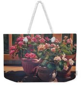 Begonias On Deck Weekender Tote Bag